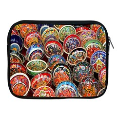 Colorful Oriental Bowls On Local Market In Turkey Apple Ipad 2/3/4 Zipper Cases