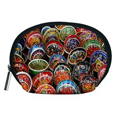 Colorful Oriental Bowls On Local Market In Turkey Accessory Pouches (medium)