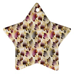 Random Leaves Pattern Background Ornament (star)