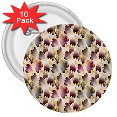 Random Leaves Pattern Background 3  Buttons (10 Pack)