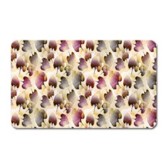 Random Leaves Pattern Background Magnet (rectangular)