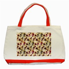 Random Leaves Pattern Background Classic Tote Bag (red)