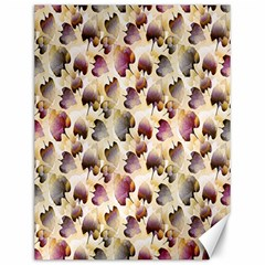 Random Leaves Pattern Background Canvas 12  X 16