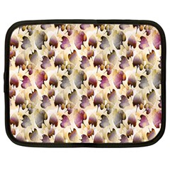 Random Leaves Pattern Background Netbook Case (large)