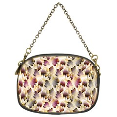 Random Leaves Pattern Background Chain Purses (two Sides)