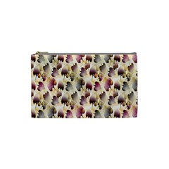 Random Leaves Pattern Background Cosmetic Bag (small)