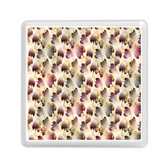 Random Leaves Pattern Background Memory Card Reader (square)