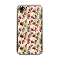 Random Leaves Pattern Background Apple Iphone 4 Case (clear)