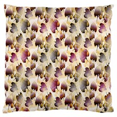 Random Leaves Pattern Background Large Cushion Case (Two Sides)