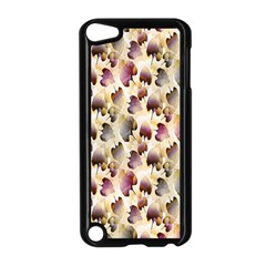 Random Leaves Pattern Background Apple iPod Touch 5 Case (Black)