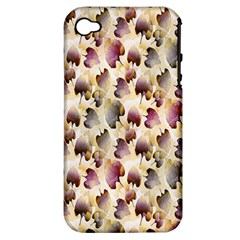 Random Leaves Pattern Background Apple iPhone 4/4S Hardshell Case (PC+Silicone)