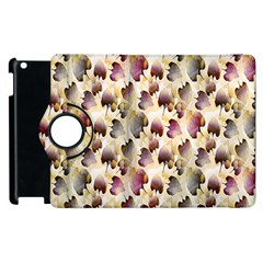 Random Leaves Pattern Background Apple Ipad 2 Flip 360 Case