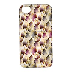 Random Leaves Pattern Background Apple iPhone 4/4S Hardshell Case with Stand