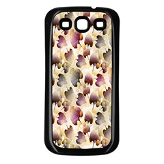 Random Leaves Pattern Background Samsung Galaxy S3 Back Case (black)