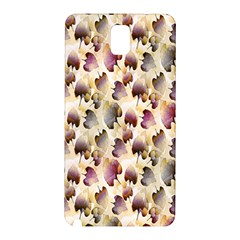 Random Leaves Pattern Background Samsung Galaxy Note 3 N9005 Hardshell Back Case