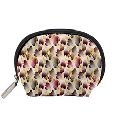 Random Leaves Pattern Background Accessory Pouches (Small)