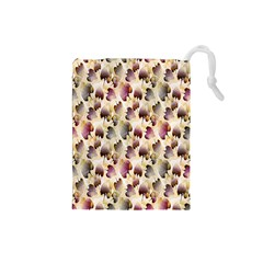 Random Leaves Pattern Background Drawstring Pouches (small)