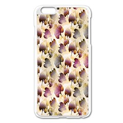 Random Leaves Pattern Background Apple iPhone 6 Plus/6S Plus Enamel White Case