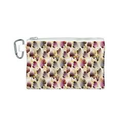 Random Leaves Pattern Background Canvas Cosmetic Bag (s)