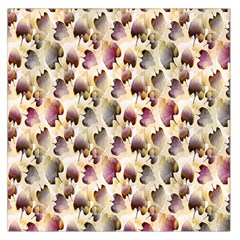 Random Leaves Pattern Background Large Satin Scarf (square)