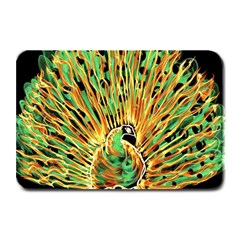 Unusual Peacock Drawn With Flame Lines Plate Mats