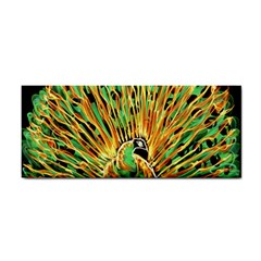 Unusual Peacock Drawn With Flame Lines Cosmetic Storage Cases
