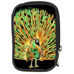 Unusual Peacock Drawn With Flame Lines Compact Camera Cases