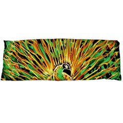 Unusual Peacock Drawn With Flame Lines Body Pillow Case (Dakimakura)