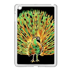 Unusual Peacock Drawn With Flame Lines Apple Ipad Mini Case (white)