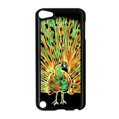 Unusual Peacock Drawn With Flame Lines Apple Ipod Touch 5 Case (black)