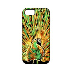 Unusual Peacock Drawn With Flame Lines Apple iPhone 5 Classic Hardshell Case (PC+Silicone)