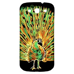 Unusual Peacock Drawn With Flame Lines Samsung Galaxy S3 S Iii Classic Hardshell Back Case
