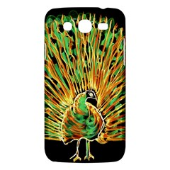 Unusual Peacock Drawn With Flame Lines Samsung Galaxy Mega 5 8 I9152 Hardshell Case