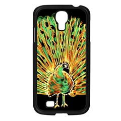 Unusual Peacock Drawn With Flame Lines Samsung Galaxy S4 I9500/ I9505 Case (black)