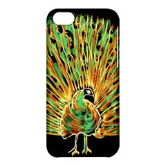 Unusual Peacock Drawn With Flame Lines Apple Iphone 5c Hardshell Case