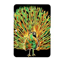 Unusual Peacock Drawn With Flame Lines Samsung Galaxy Tab 2 (10.1 ) P5100 Hardshell Case