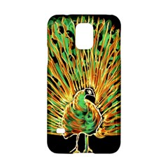 Unusual Peacock Drawn With Flame Lines Samsung Galaxy S5 Hardshell Case