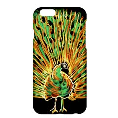 Unusual Peacock Drawn With Flame Lines Apple Iphone 6 Plus/6s Plus Hardshell Case