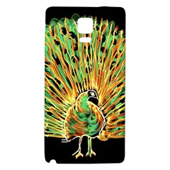 Unusual Peacock Drawn With Flame Lines Galaxy Note 4 Back Case