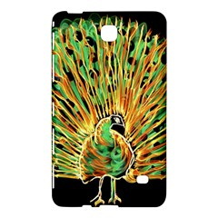 Unusual Peacock Drawn With Flame Lines Samsung Galaxy Tab 4 (7 ) Hardshell Case