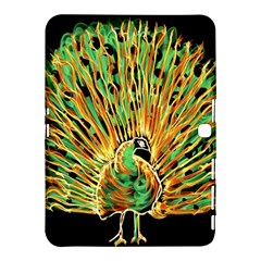 Unusual Peacock Drawn With Flame Lines Samsung Galaxy Tab 4 (10 1 ) Hardshell Case