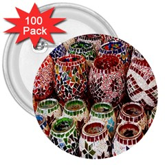 Colorful Oriental Candle Holders For Sale On Local Market 3  Buttons (100 Pack)