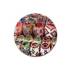 Colorful Oriental Candle Holders For Sale On Local Market Magnet 3  (round)