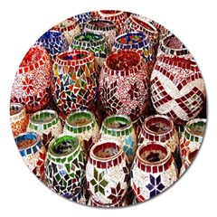 Colorful Oriental Candle Holders For Sale On Local Market Magnet 5  (round)