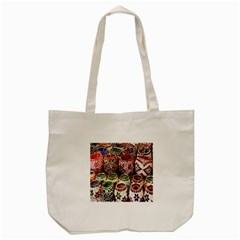 Colorful Oriental Candle Holders For Sale On Local Market Tote Bag (cream)