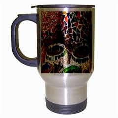 Colorful Oriental Candle Holders For Sale On Local Market Travel Mug (Silver Gray)