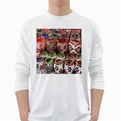 Colorful Oriental Candle Holders For Sale On Local Market White Long Sleeve T Shirts