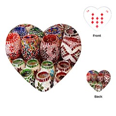 Colorful Oriental Candle Holders For Sale On Local Market Playing Cards (heart)