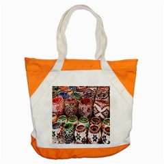 Colorful Oriental Candle Holders For Sale On Local Market Accent Tote Bag