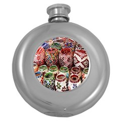 Colorful Oriental Candle Holders For Sale On Local Market Round Hip Flask (5 oz)
